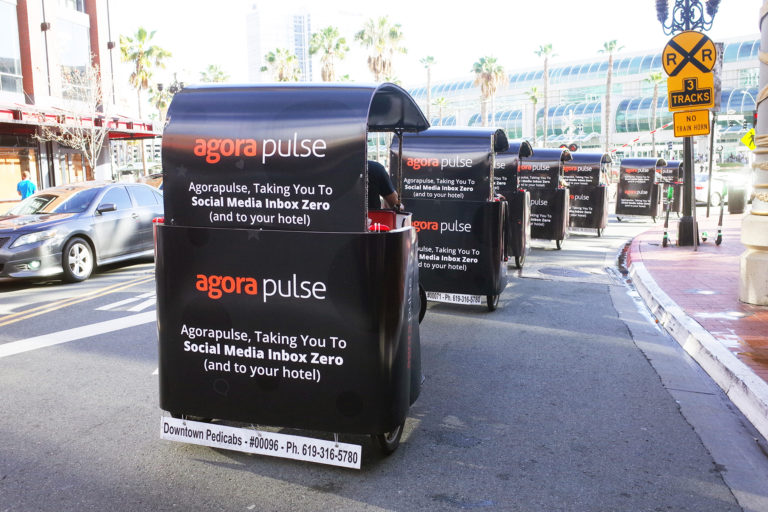 Agora Pulse branded san diego pedicab rides
