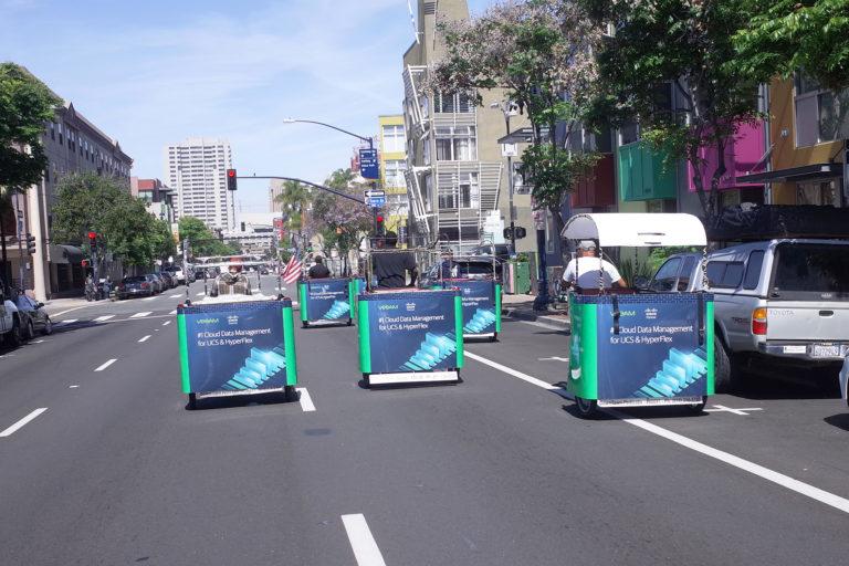 Cisco branded pedicabs