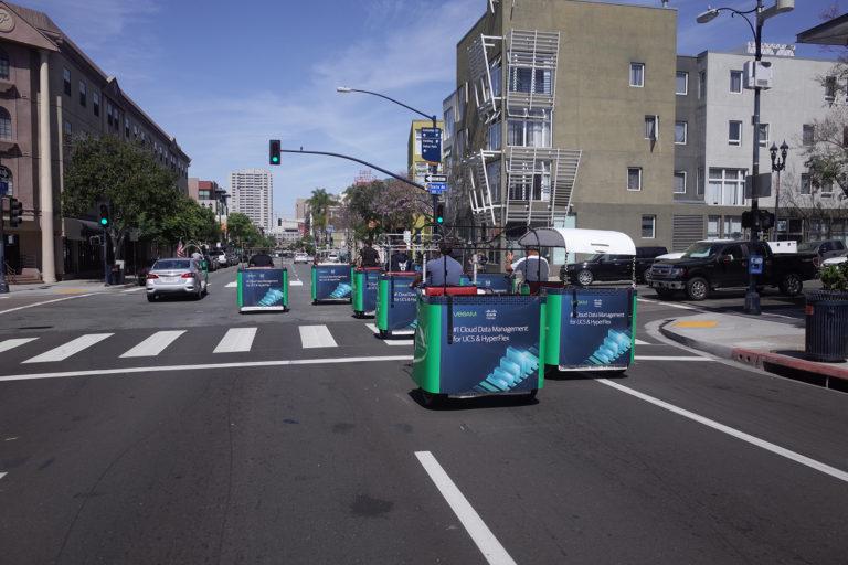 Cisco branded pedicab san diego