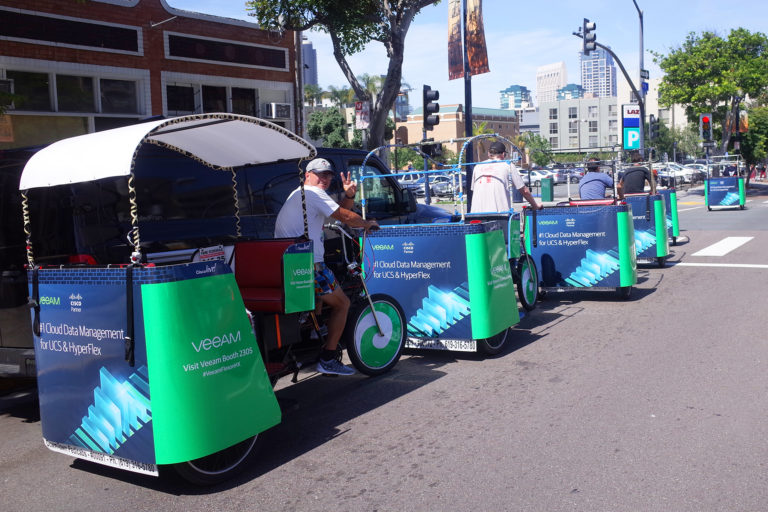 Cisco branded san diego pedicabs
