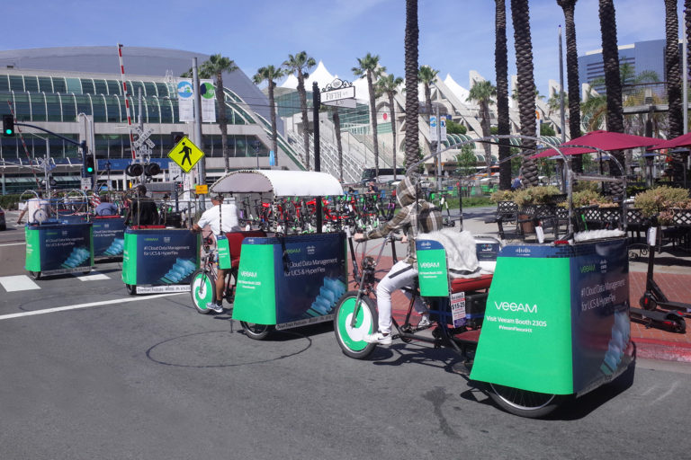 Cisco branded pedicabs san diego