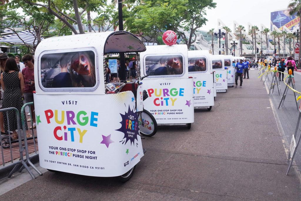 comic con san diego pedicab advertising