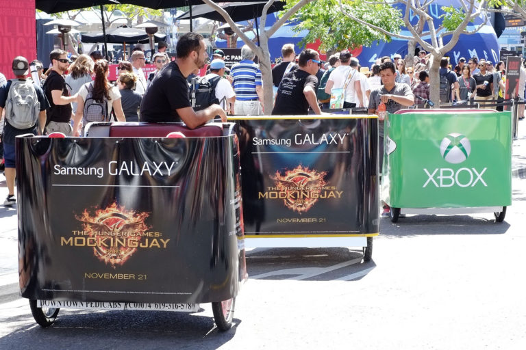 Samsung Galaxy San Diego pedicab advertising