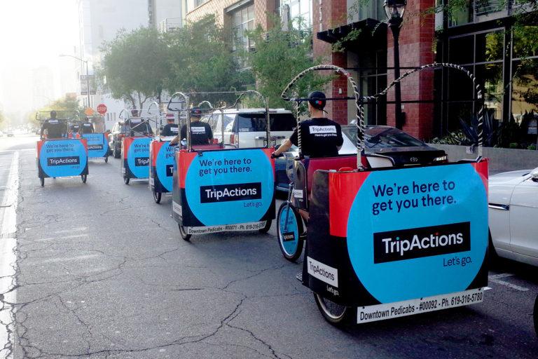 Branded Pedicab San Diego