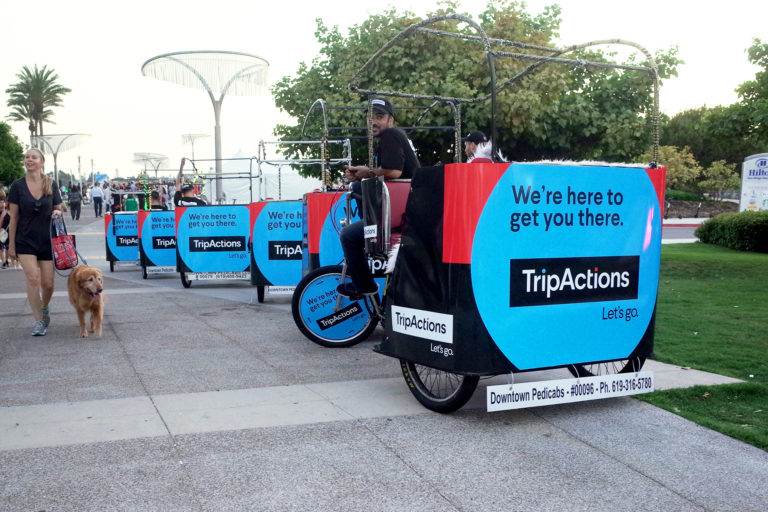 convention center san diego pedicab advertising