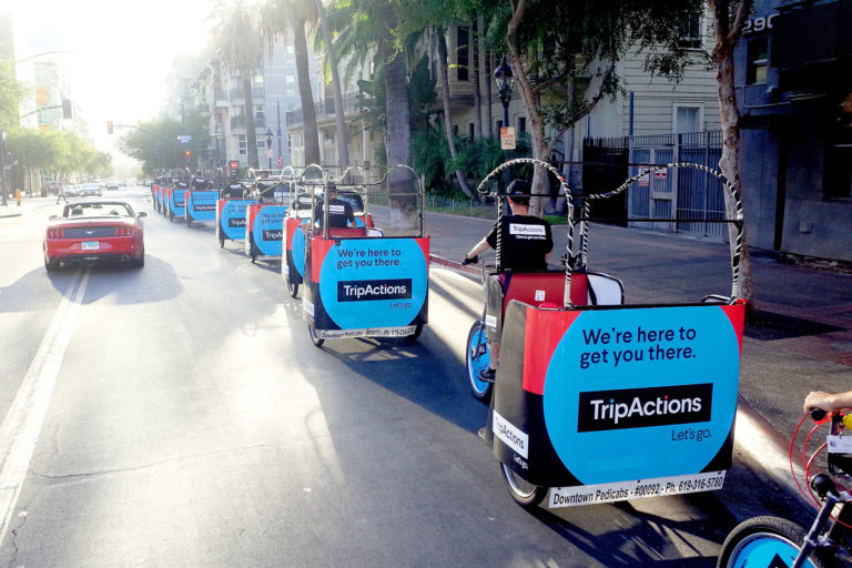 Trip Actions branded an diego pedicabs
