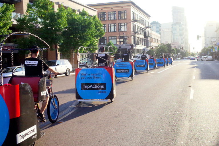 San Diego pedicab advertising