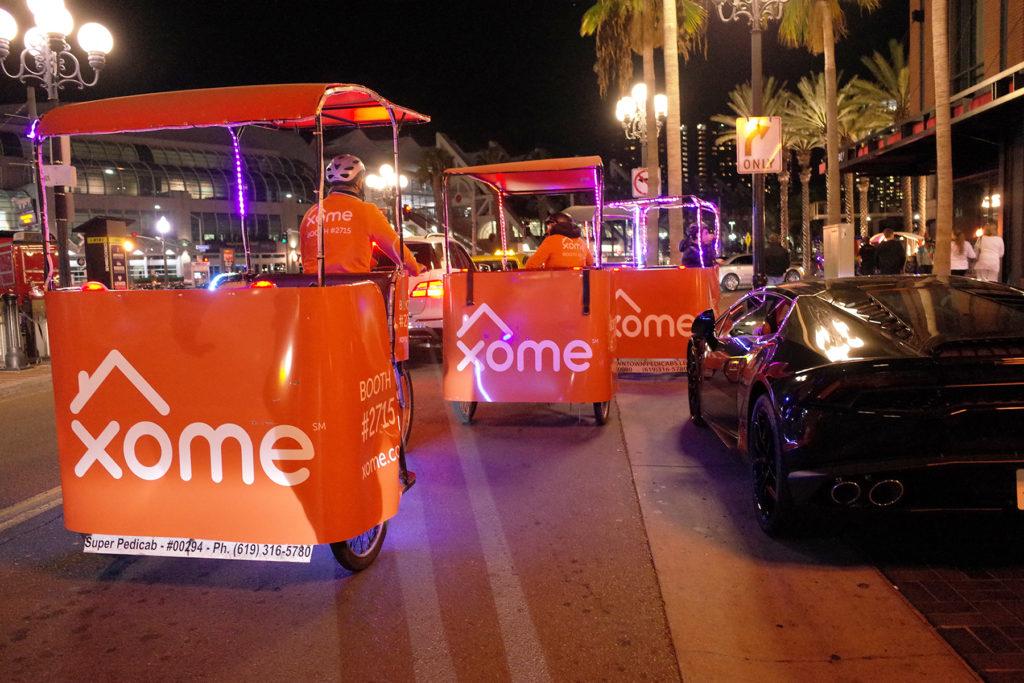 Xome san diego pedicab advertising