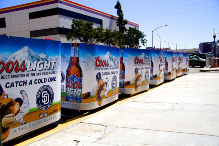 Coors Light branded san diego pedicabs