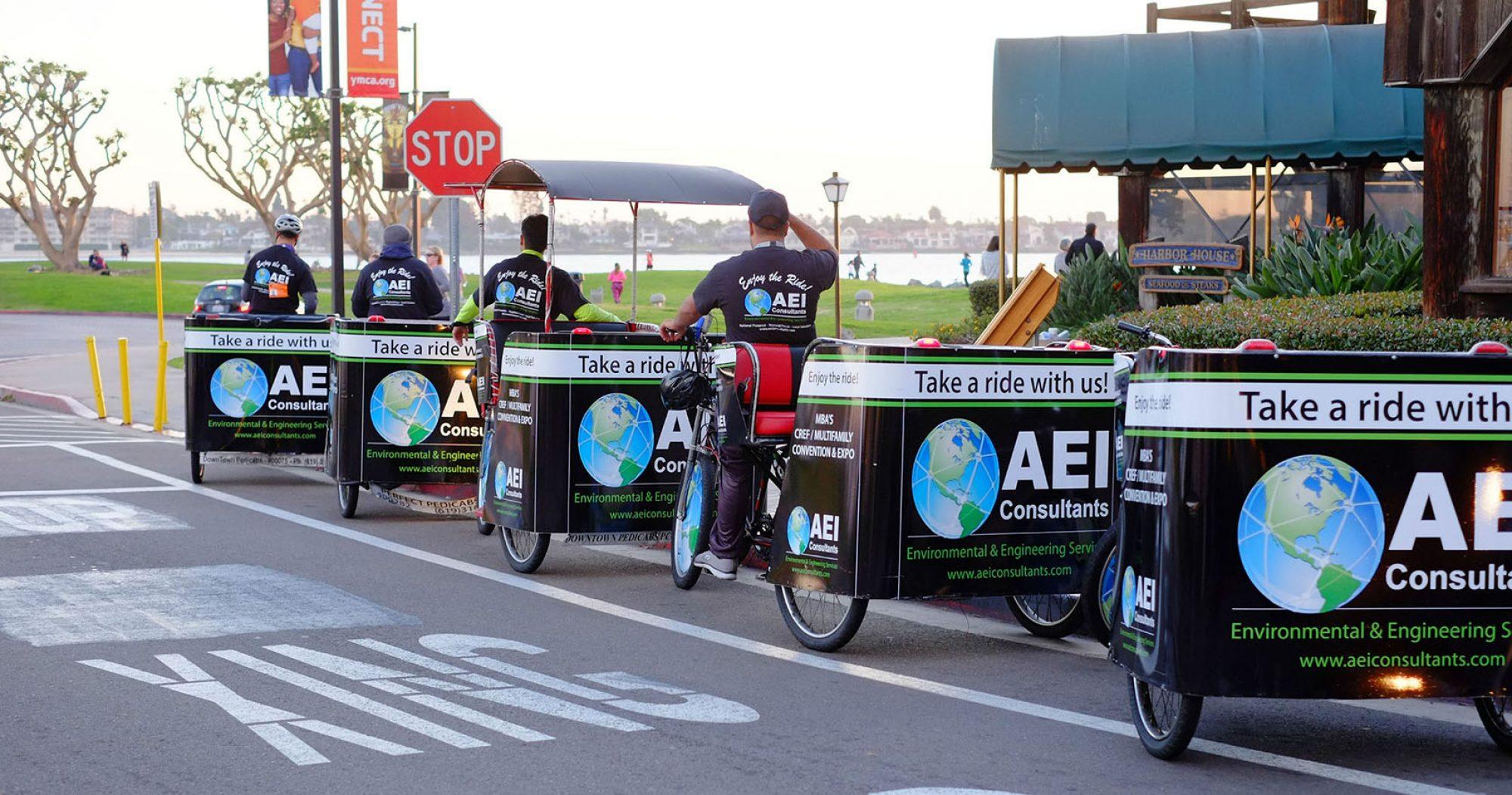 San Diego pedicab advertising